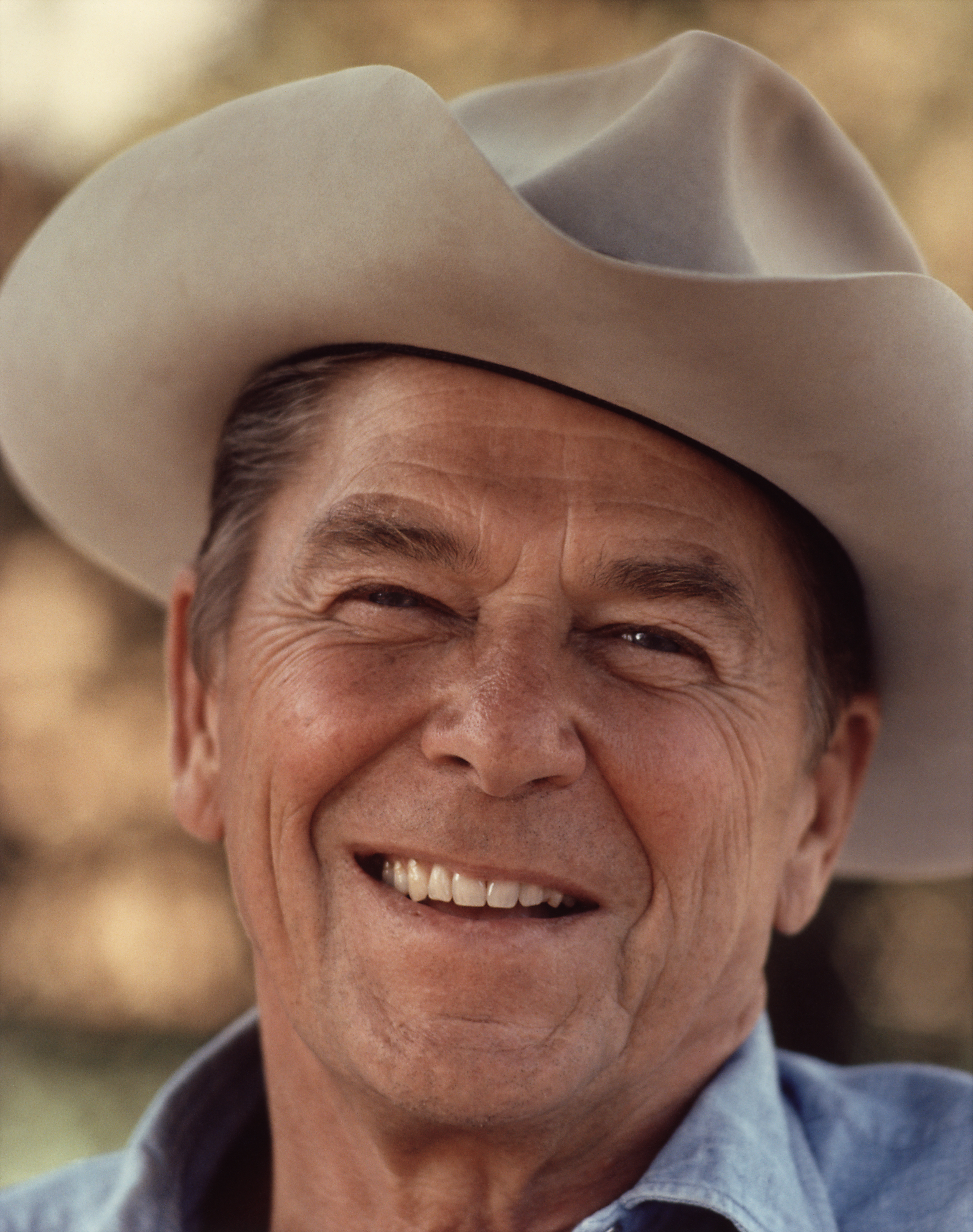 Ronald Reagan Mask Ronald reagan . - Ronald_Reagan_with_cowboy_hat_12-0071M_edit