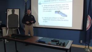 Frank Phillips teaches a safety class at Golden Seal Enterprises.