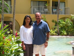 Frank Phillips and Marci Carter on their honeymoon in 2007.